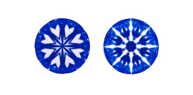 Cuori e frecce nei diamanti