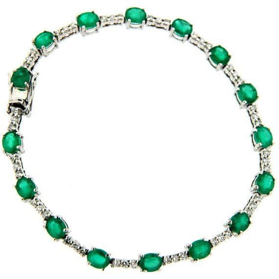 G598-tennis-bracciale-oro-bianco-diamanti-brillanti-smeraldi-2