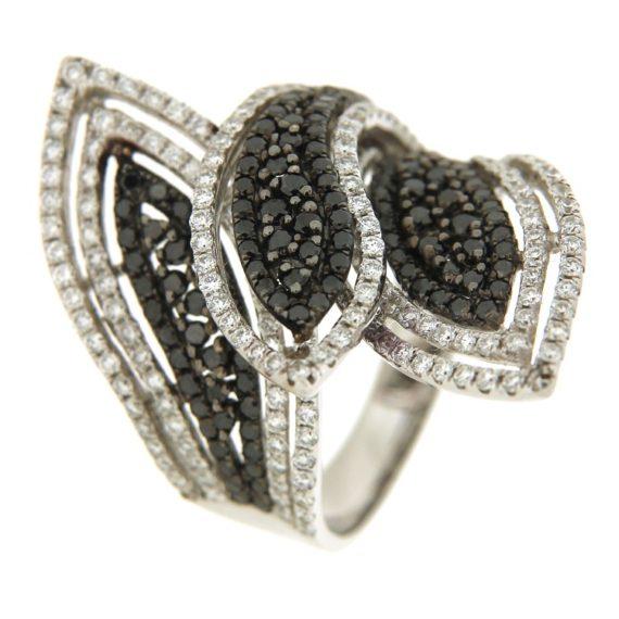 G1842-anello-oro-bianco-brillanti-diamanti-bianchi-neri-1
