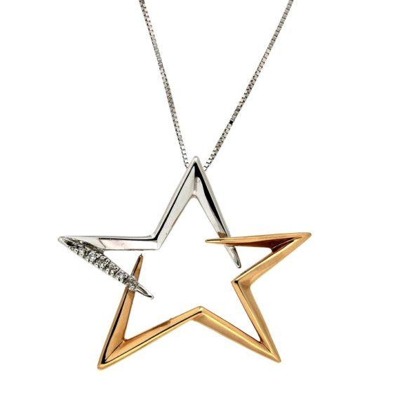 G1411-girocollo-guidetti-stella-oro-bianco-rosa-diamanti-brillanti