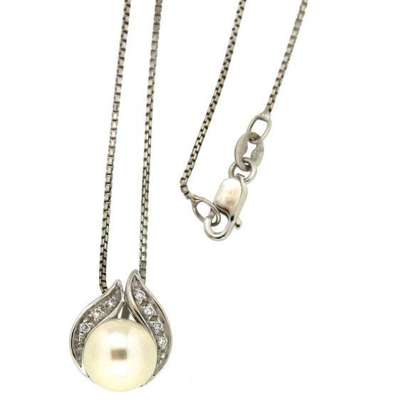 G1496-girocollo-oro-bianco-diamanti-brillanti-perla