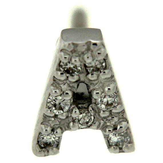 G1110-orecchino-pinomarino-iniziale-oro-bianco-diamanti-brillanti