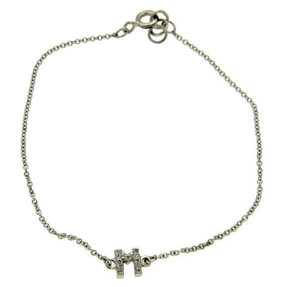 G1112-pinomarino-white-gold-bracelet-with-initial-and-brilliant-cut-diamond