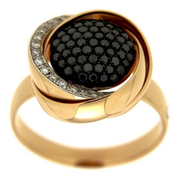 G1348-anello-kdikuore-oro-rosa-diamanti-brillanti-neri