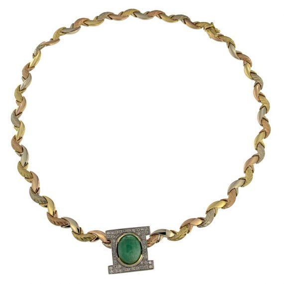 G2040-girocollo-tre-ori-smeraldo-diamanti-brillanti