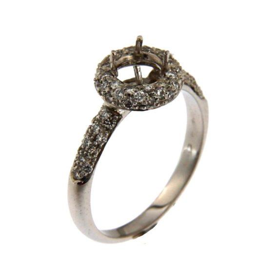 Montatura 1 oro bianco diamanti taglio brillante