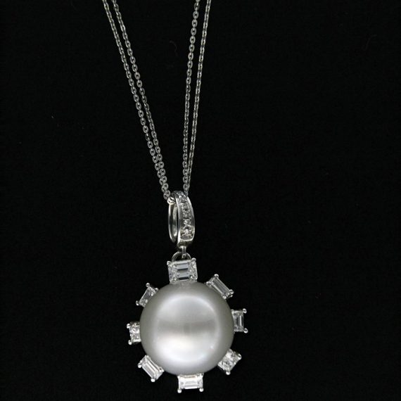 G2197-white-gold-necklace-with-australian-pearl-and-baguette-cut-diamonds
