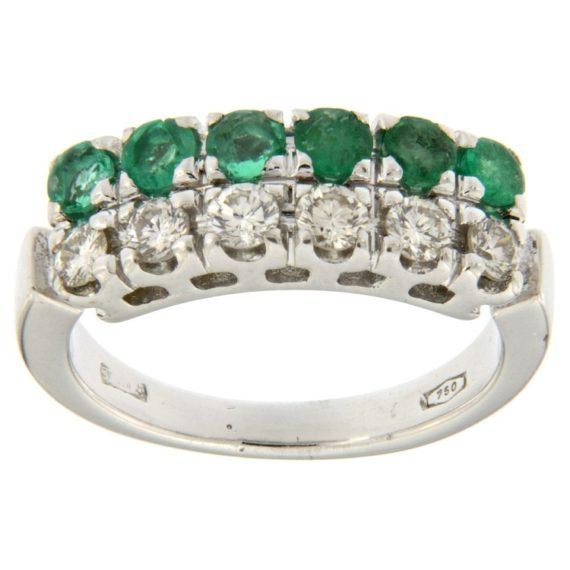 G2215-anello-oro-bianco-diamanti-smeraldi