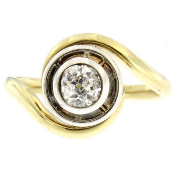 G2249-solitario-anello-oro-bianco-giallo-diamante-taglio-vecchio-1