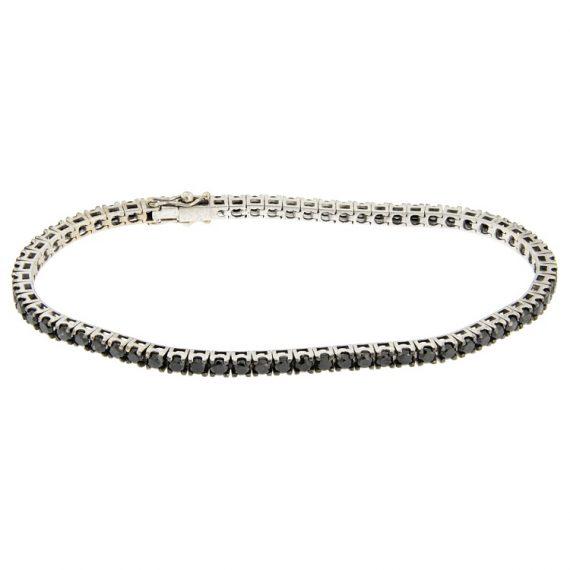 G2263-bracciale-tennis-guidetti-oro-bianco-diamanti-brillanti-neri