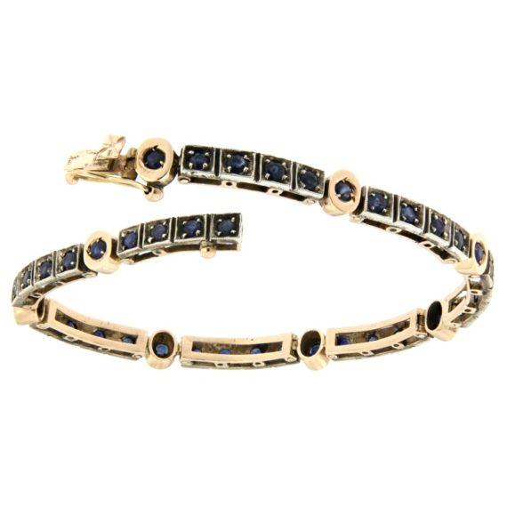 G2325a-bracciale-stile-antico-zaffiri-oro-argento