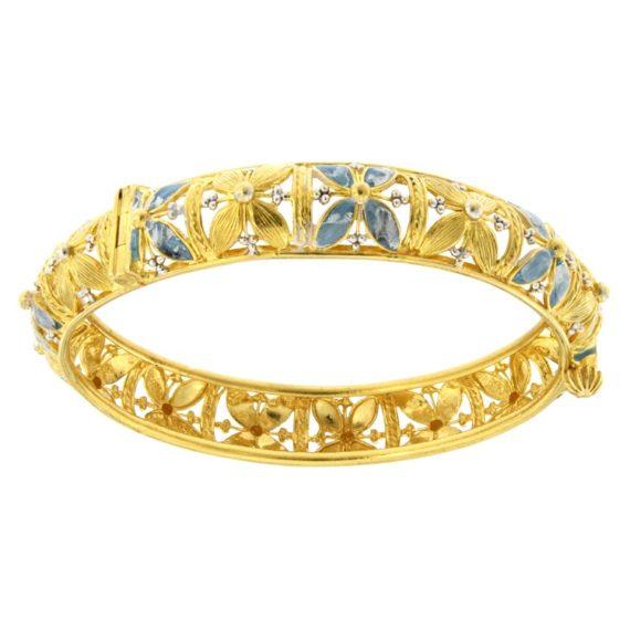 G2341-bracciale-rigido-oro-giallo-21kt-smalto