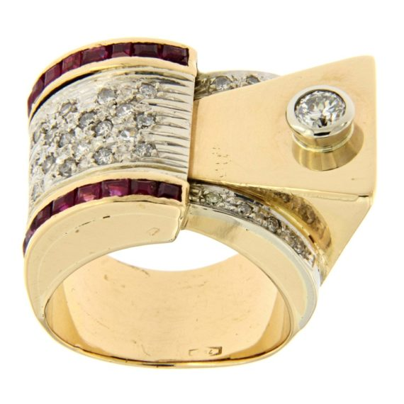 G2560-anello-stile-art-deco-oro-rosa-diamanti-huit-huit-rubini