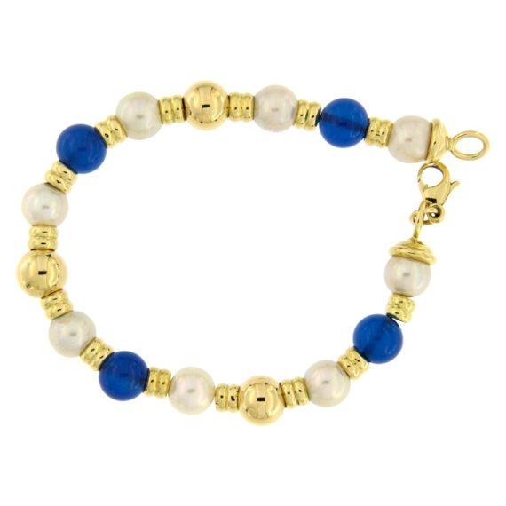 G2563-bracciale-oro-giallo-perle-calcedonio