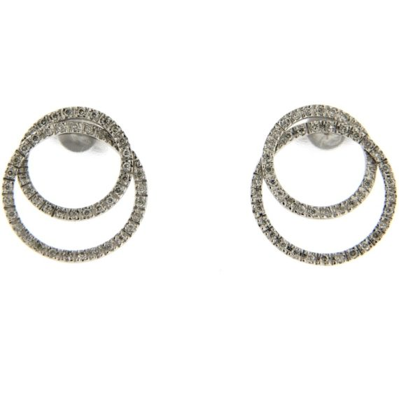 G2572 White gold earrings with brilliant cut diamond