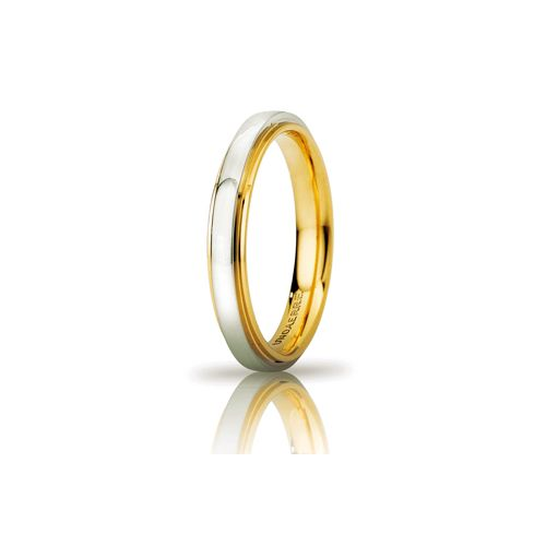 F48_Fede Cassiopea slim in oro bianco e giallo millimetri 3