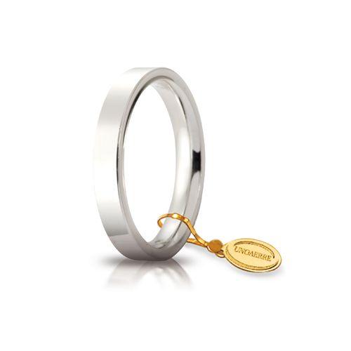 F51_Fede nuziale Cerchio di luce oro bianco mm 3,5