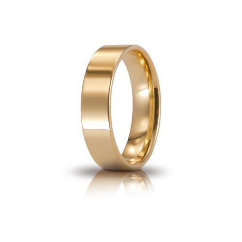 F52_Fede nuziale Cerchio di luce oro giallo mm 5